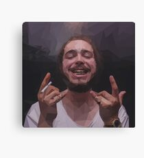 Post Malone polygon artwork Canvas Print