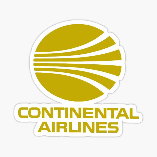 Continental Airlines USA Sticker