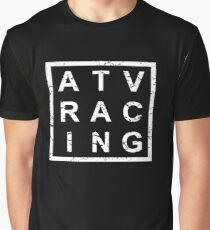 Stylish ATV Racing Graphic T-Shirt