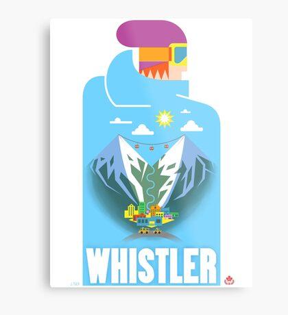 """""""Blue Bird"""" Whistler Village Shirt Metal Print"""