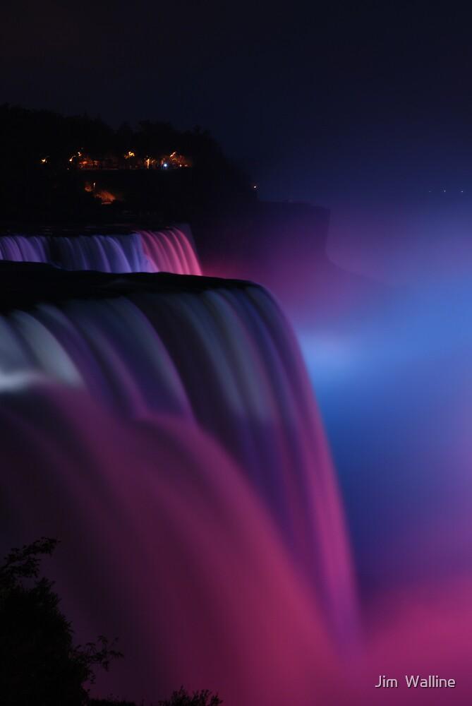 Niagara at Night by Jim  Walline
