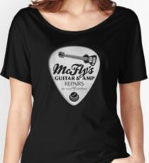 McFly's Repairs - White Women's Relaxed Fit T-Shirt