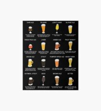 Beer Style Personality Chart - What Your Beer Says About You Art Board