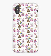 Silly Whacky Fun Poop Emoji Land Collection iPhone Case