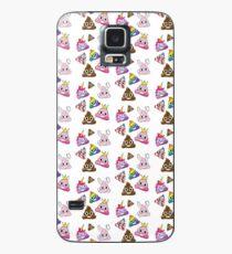 Dummer Whacky Spaß-Poop Emoji-Land-Sammlung Hülle & Klebefolie für Samsung Galaxy