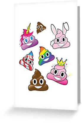 Silly Whacky Fun Poop Emoji Land Collection by abowlofsoda