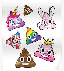 Silly Whacky Fun Poop Emoji Land Collection Poster