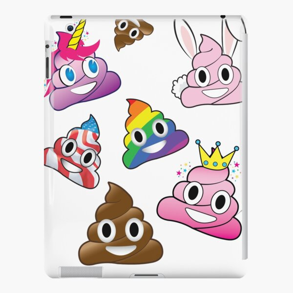 Silly Whacky Fun Poop Emoji Land Collection iPad Snap Case
