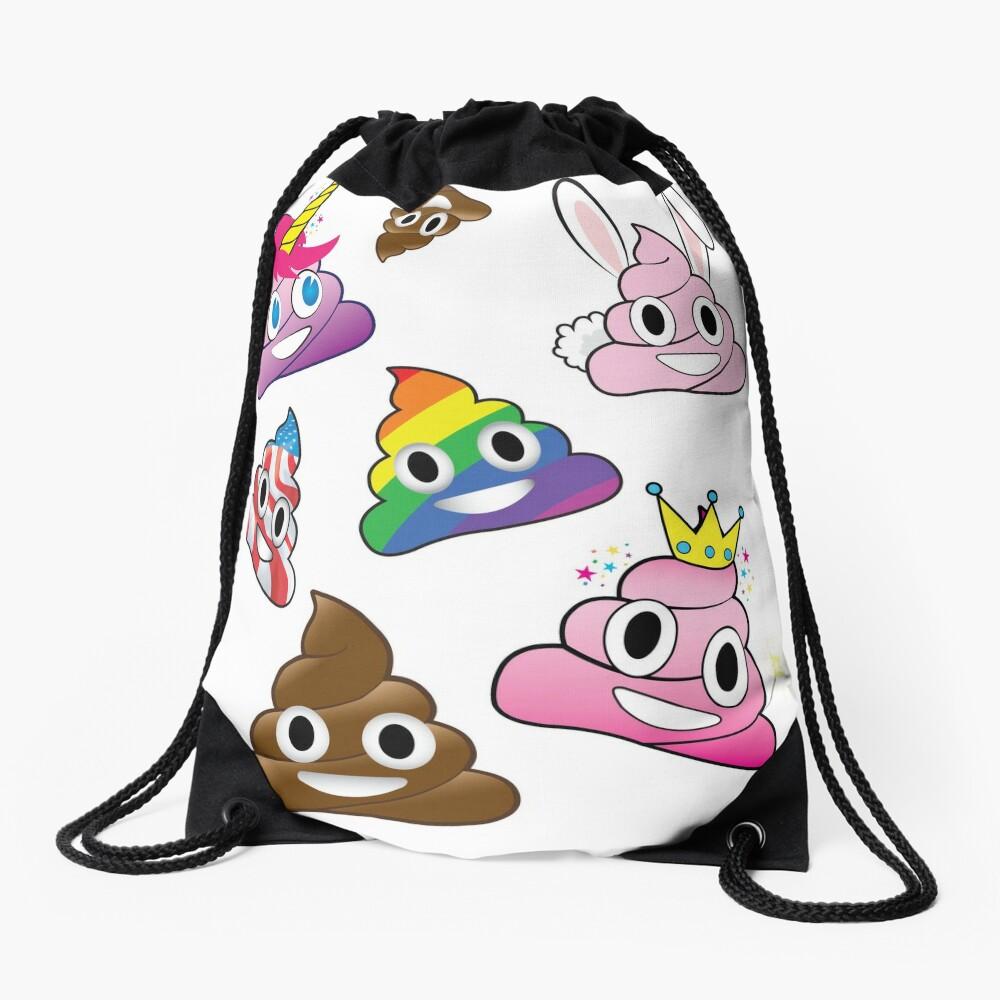 Silly Whacky Fun Poop Colección Emoji Land Mochila saco