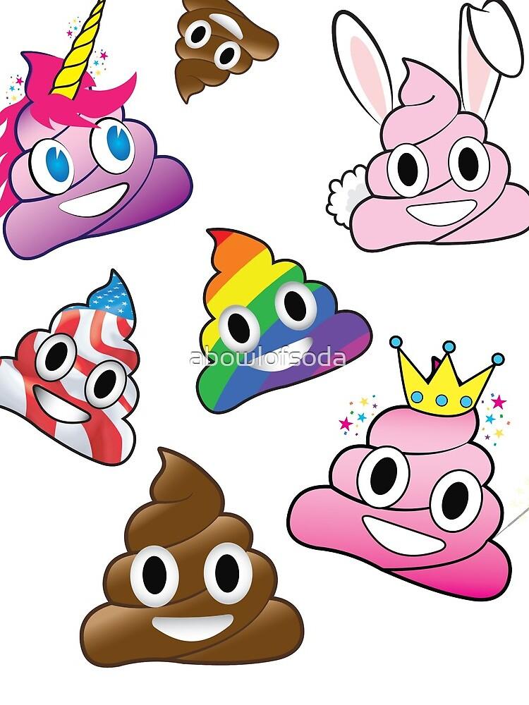 Silly Whacky Fun Poop Colección Emoji Land de abowlofsoda