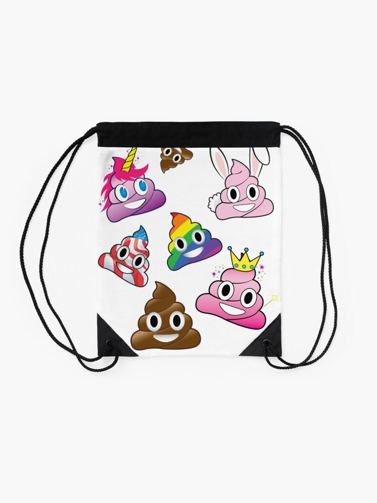Vista alternativa de Mochila saco Silly Whacky Fun Poop Colección Emoji Land