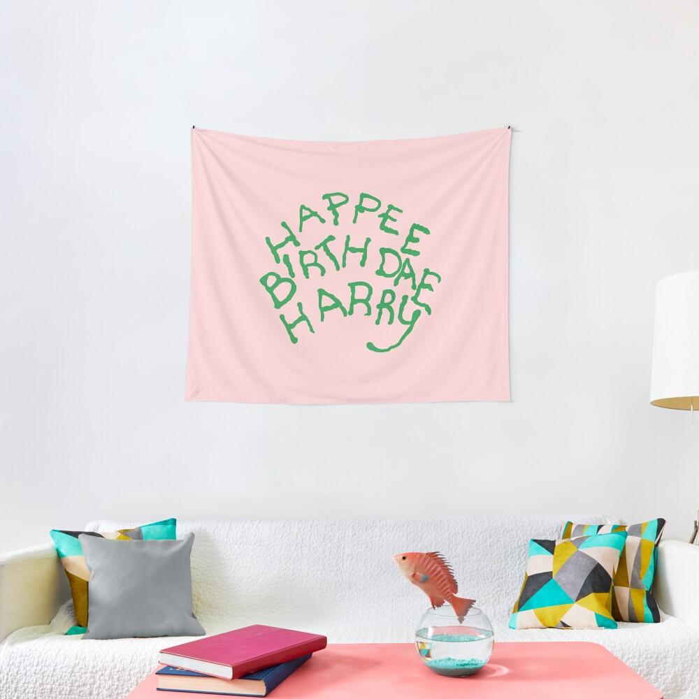 Happee Birthdae Harry Tapestry