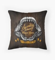 Amity Island Boat Hire - Vintage Throw Pillow