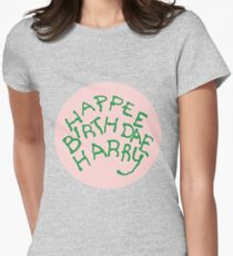 Happee Birthdae Harry - Circle Women's Fitted T-Shirt