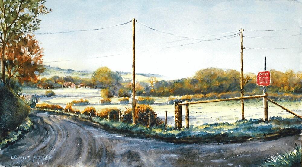 Beddingham lane (Sussex) Near Lewes. by LorusMaver