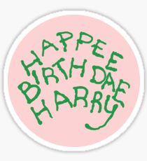 Happee Birthdae Harry - Circle Sticker