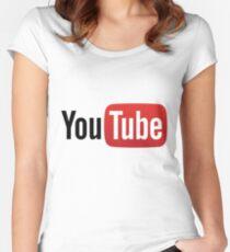 Camiseta entallada de cuello ancho Youtube