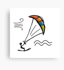 Kiteboarding Canvas Print