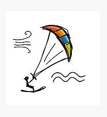 Kiteboarding Photographic Print
