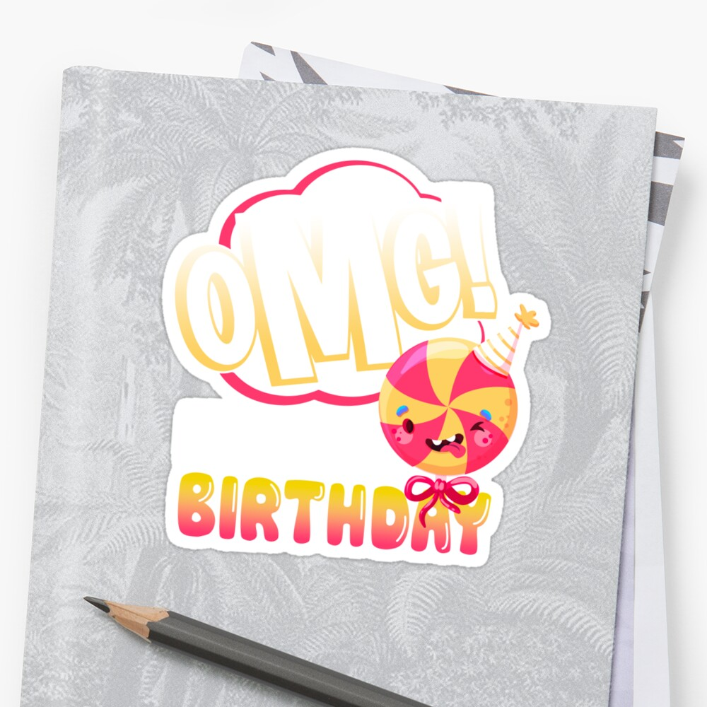 OMG Its My Birthday Emoji T Shirt Hoohie Sweatshirt Kids Gift Idea By FabbyTees