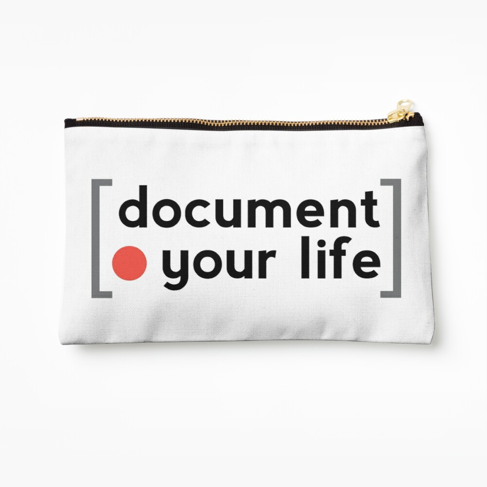 Document Your Life Zipper Pouch