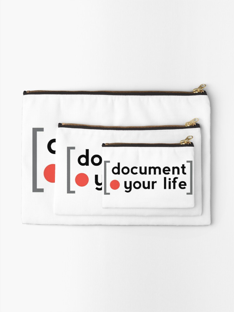 Alternate view of Document Your Life Zipper Pouch