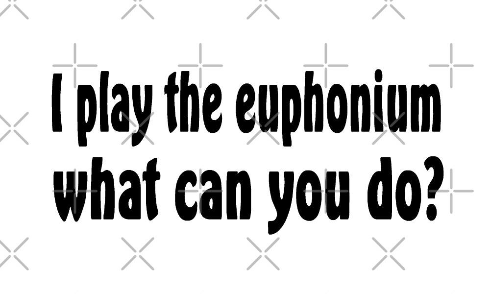 I Play Euphonium - What Can You Do? - Funny Euphonium T Shirt  by greatshirts