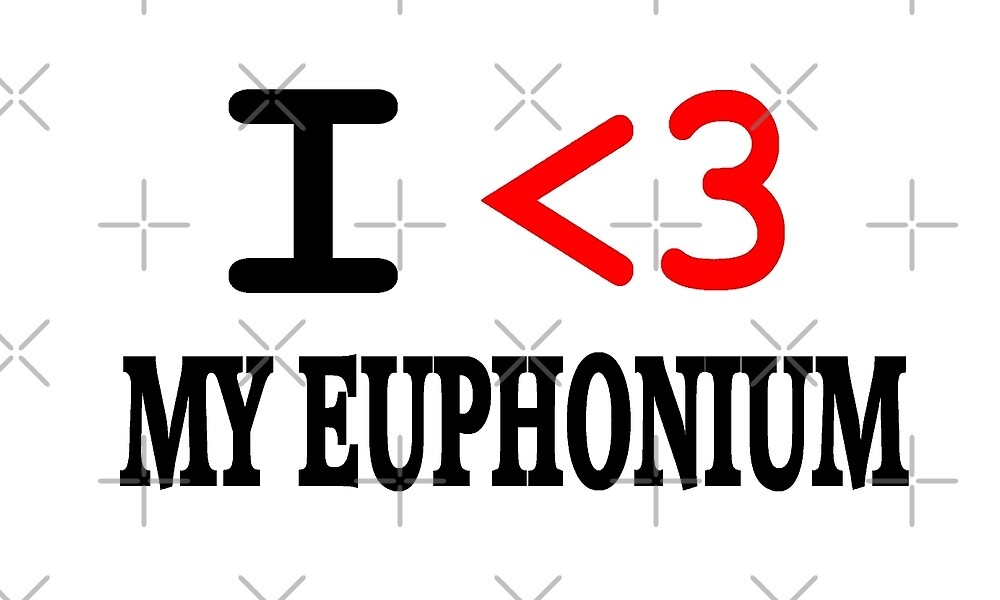I Love My Euphonium - Funny Euphonium T Shirt  by greatshirts