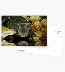 fractal croc Postcards