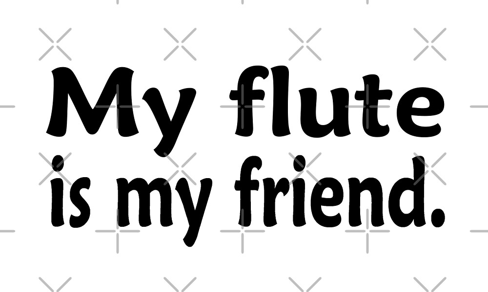 My Flute Is My Friend - Funny Flute T Shirt  by greatshirts
