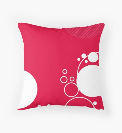 Abstract Bubbles and Lines Throw Pillow
