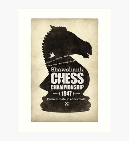 Shawshank Chess Comp Art Print
