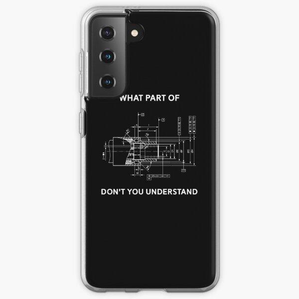 Funny Engineering Camiseta - Mechanical Engineering T-shirt Funda blanda para Samsung Galaxy