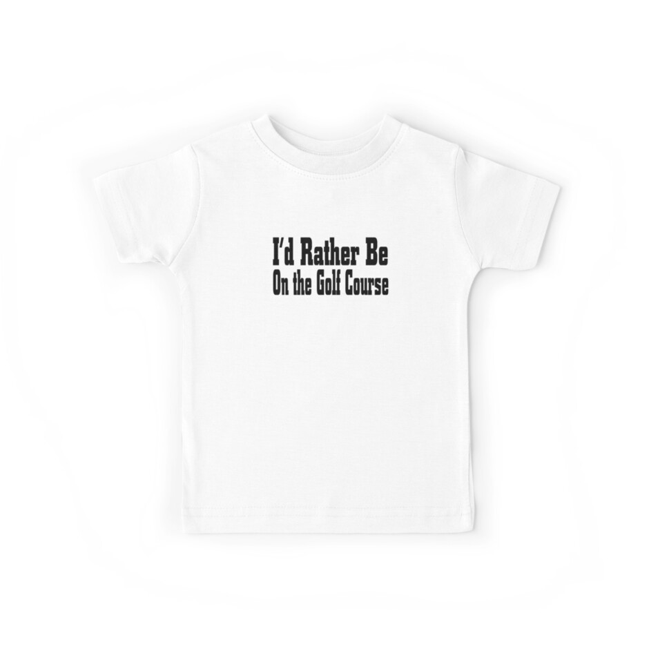 Ich würde eher auf Golfplatz sein - lustiges Golf-T-Shirt von greatshirts