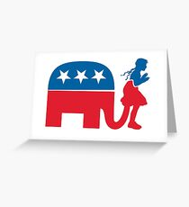 Funny Republican Symbol for Democrats and Liberals Greeting Card