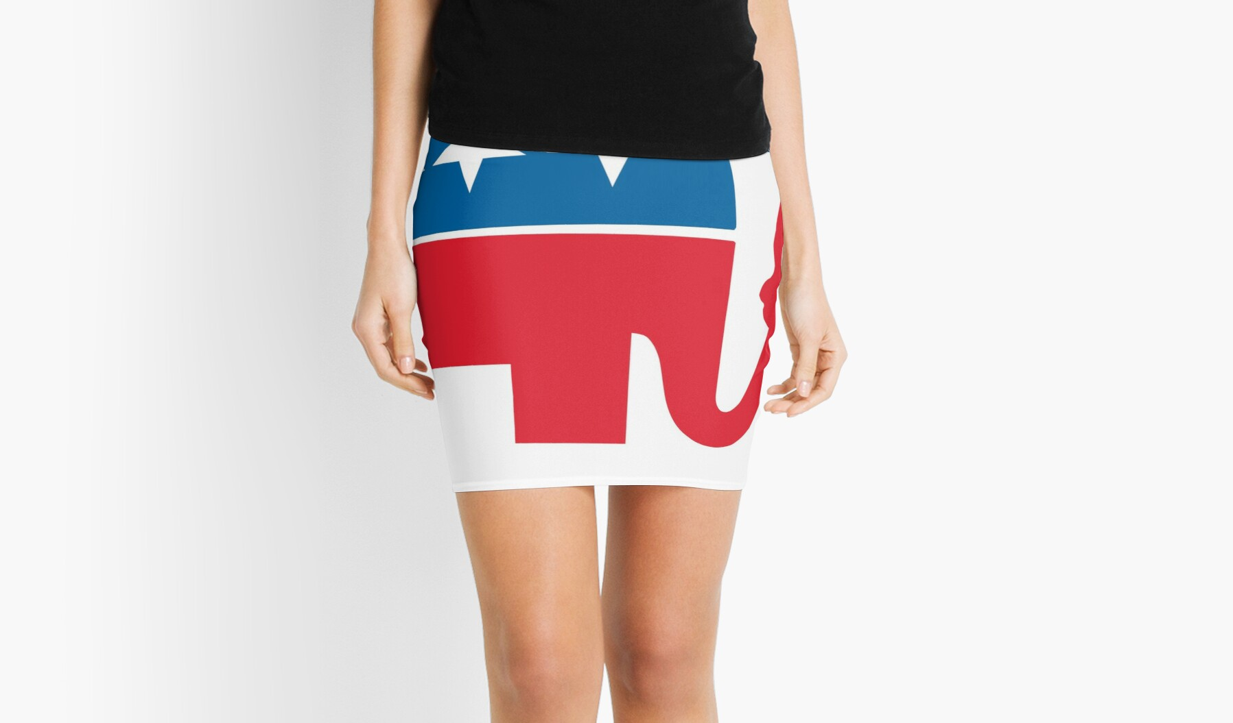 Funny Republican Symbol For Democrats And Liberals Mini Skirts By