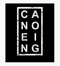 Stylish Canoeing Photographic Print