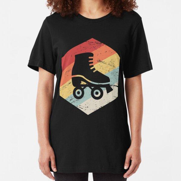Vintage 70s Style Roller Skating Mens Slim Fit Jersey Tank Undershirts