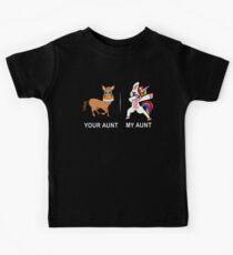 Ihre Tante meine Tante Lustiges niedliches eintauchendes Einhorn-T-Shirt Kinder T-Shirt