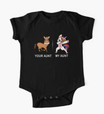 Your Aunt My Aunt Funny Cute dabbing Unicorn T-shirt  One Piece - Short Sleeve
