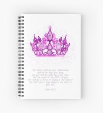 Crown of Beauty  Spiral Notebook