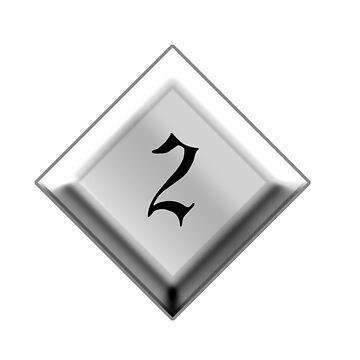 NUMBER 2, 2, Two, Second, Runner up, Goth, Gothic, Minster Type by TOMSREDBUBBLE