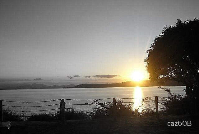 Sunset at Lake Taupo, New Zealand. by caz60B