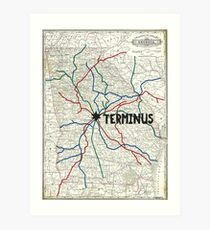 The Walking Dead - Terminus Map Art Print