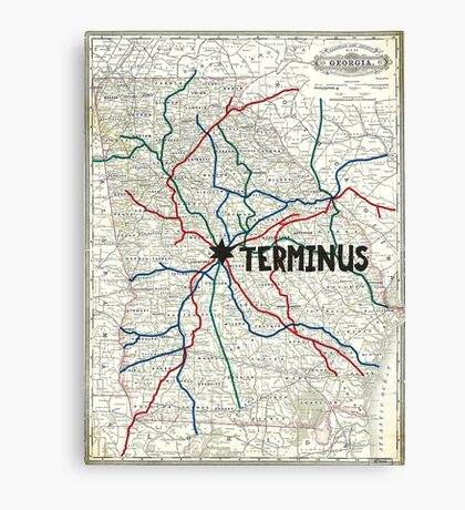 The Walking Dead - Terminus Map Canvas Print