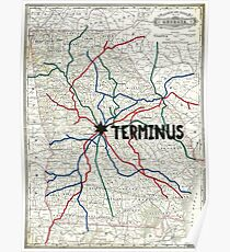 The Walking Dead - Terminus Map Poster