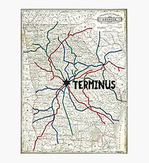 The Walking Dead - Terminus Map Photographic Print