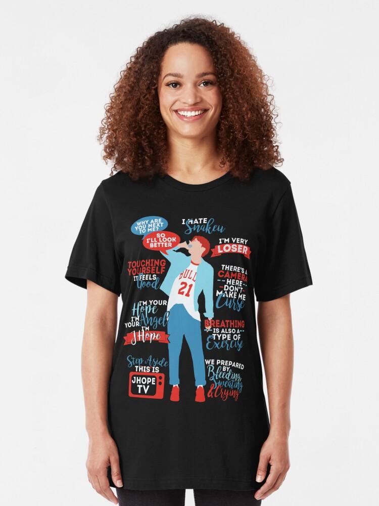 Alternative Ansicht von BTS J-Hoffnung Zitate Slim Fit T-Shirt