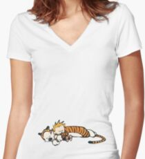 Nap Time Women's Fitted V-Neck T-Shirt