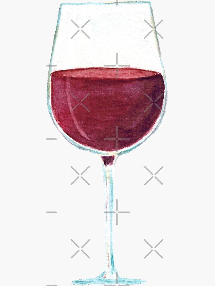 Glass with red wine by FuzzyLogicKate